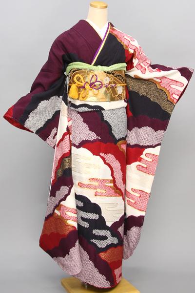◆【レンタル専用1805-01670】ヱ霞雲取りの絞り柄古典振袖