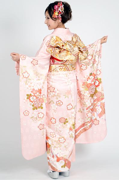 【MKK-28007】★ピンク地がふんわり可憐な桜の花柄振袖