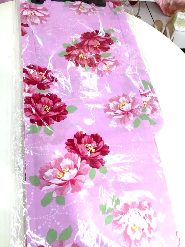 ピンクの浴衣