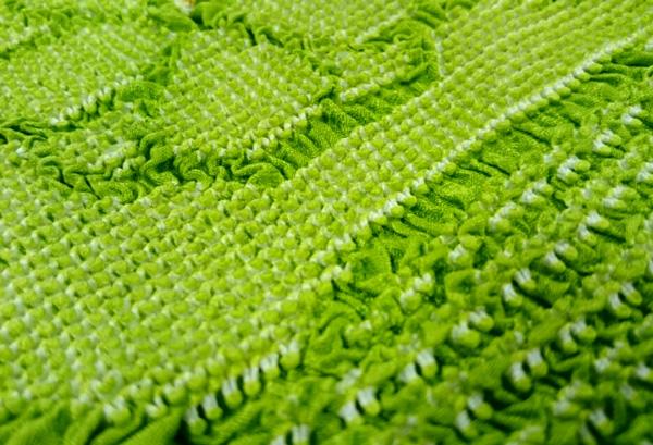 緑の絞り帯揚げ