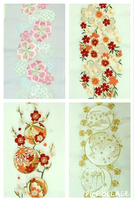振袖の刺繍衿