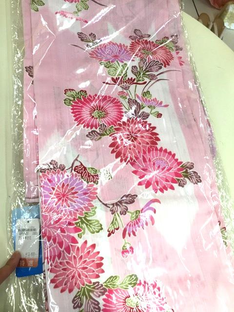 菊と矢絣柄浴衣