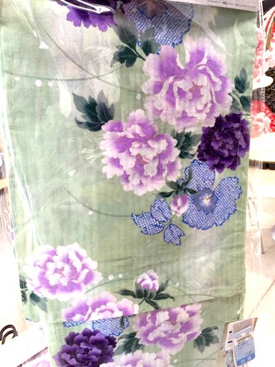 紫の花 浴衣