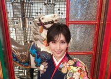 横山ルリカさんに振袖の衣裳提供をさせていただきました